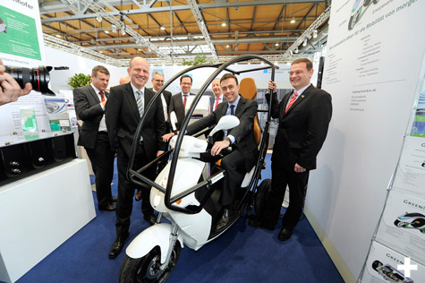 Electromobile City Scooter auf der Hannover Messe 2014