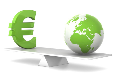 In balance - euro and earth