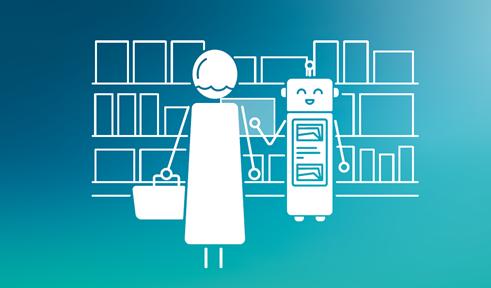Abbildung 1: Im Einzelhandelsszenario glänzt der Service-Roboter beispielsweise mit Detailwissen zu einer Vielzahl der angebotenen Produkte.