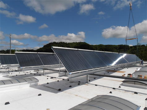 Installation of solar thermal solution at Zehnder paintshop in Switzerland