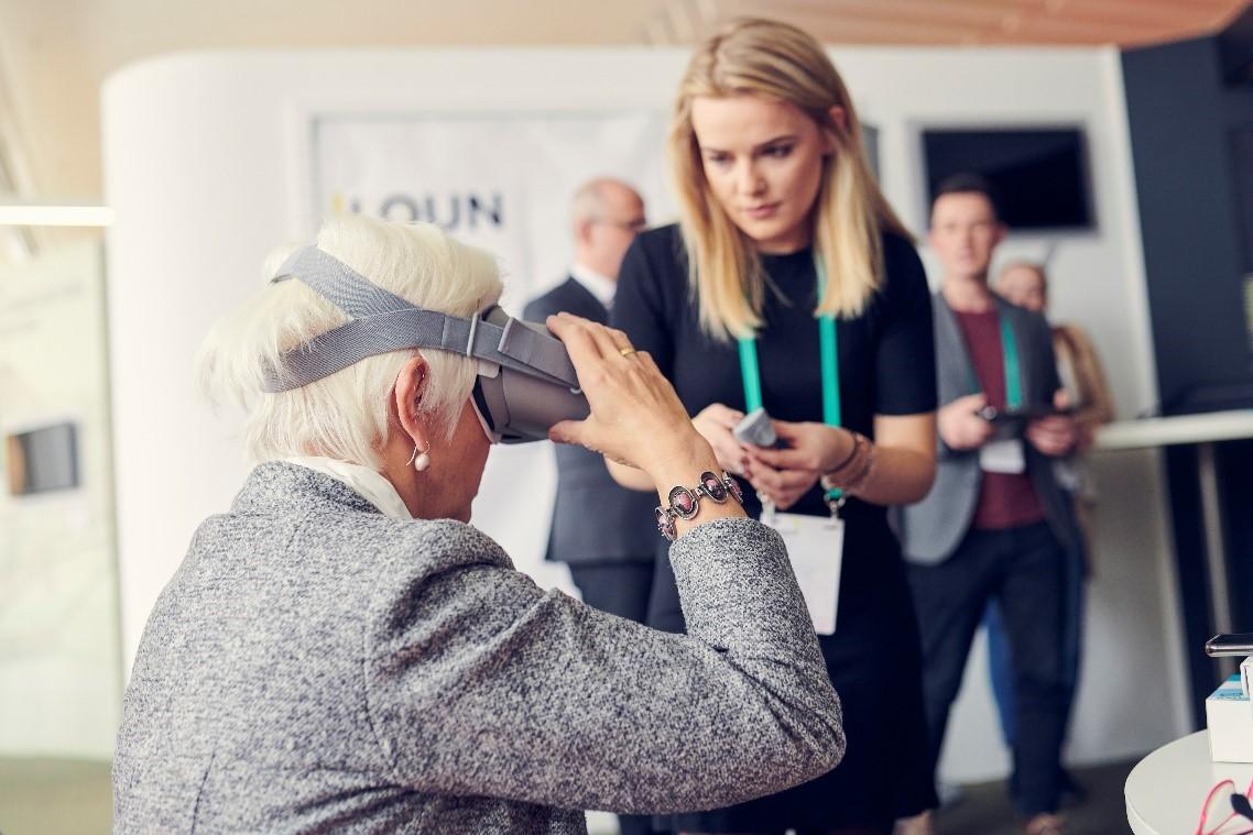 VR-Befragung auf der diesjährigen Morgenstadt Werkstatt am Fraunhofer IAO.